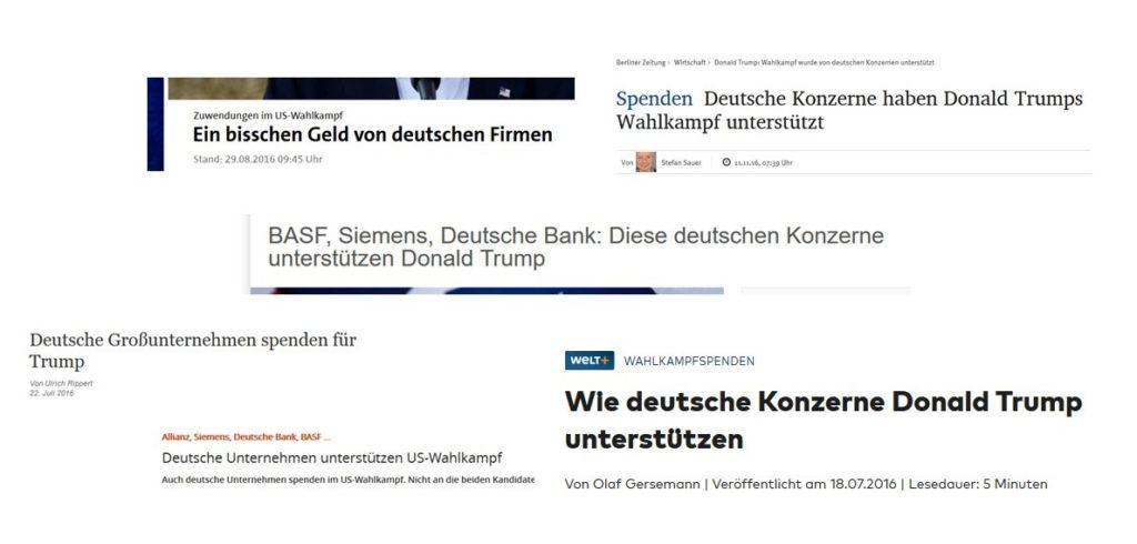 Schlagzeilen von br.de , ard.de, finanzen.net und Co.