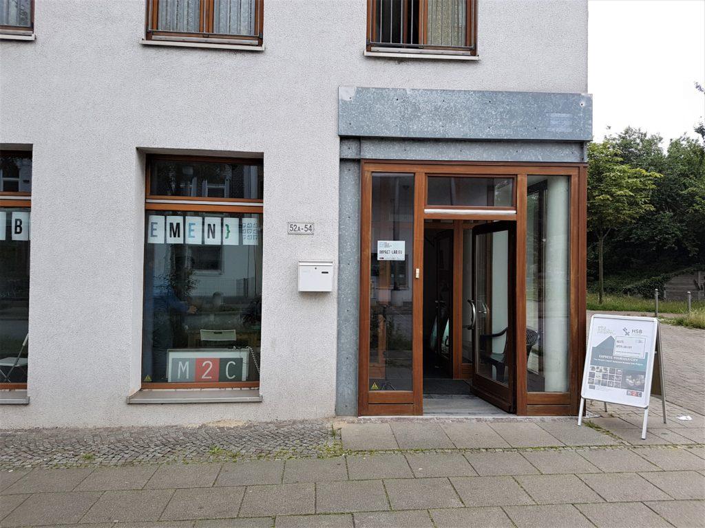 Ort der Stadtteil-Partizipation - Außenansicht auf das Digital Urban Impact Lab in Bremen