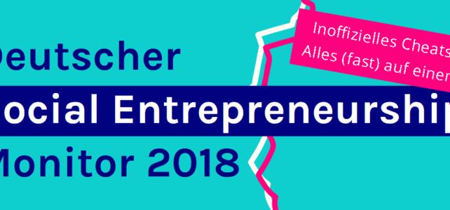 Cheatsheet zum Deutschen Social Entrepreneurship Monitor 2018